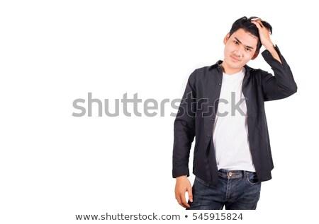 1 ハンサム アジア 筋肉の 男 黒 ストックフォト © utorro