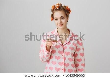 Сток-фото: волос · глядя · зеркало · домохозяйка · готовый