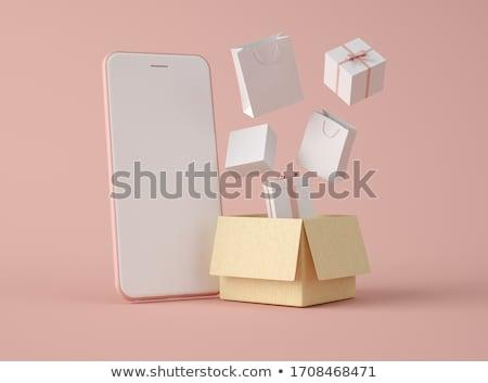ボックス · 孤立した · 白 · 紙 · グループ · 色 - ストックフォト © restyler
