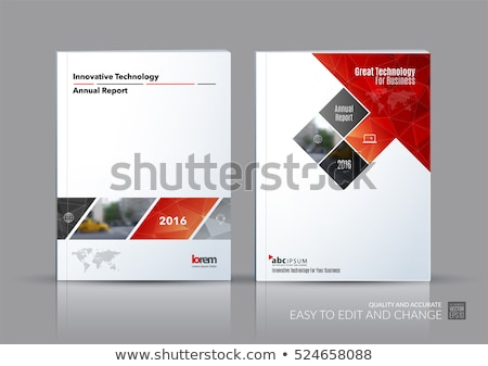 abstract red book cover design stock photo © pathakdesigner