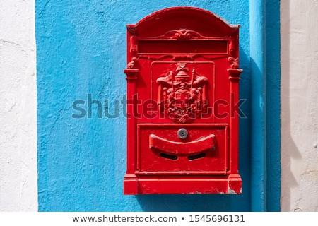 Włoski skrzynka pocztowa starych czerwony Wenecja Włochy Zdjęcia stock © Stocksnapper