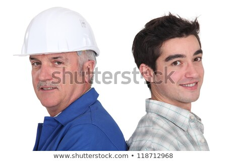 portrait of junior craftsman and mature instructor Stock photo © photography33