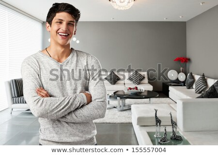 A man with parquet strates. Stock photo © photography33