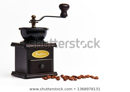 Antique coffee grinder and coffee beans Stock photo © gromovataya