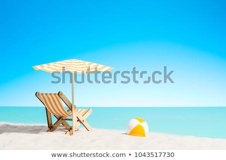 Lounge · пляж · лет · день · небе · пейзаж - Сток-фото © ozaiachin