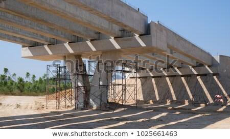 Bina köprü inşaat araba yol Stok fotoğraf © samsem