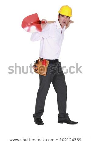 łopata powrót patrząc wściekły domu Zdjęcia stock © photography33