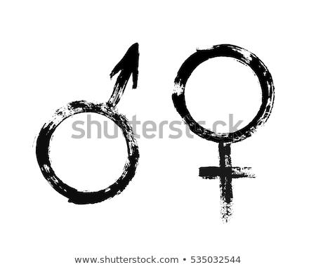 グランジ · 女性 · シルエット · 花 · 少女 · セクシー - ストックフォト © kjpargeter