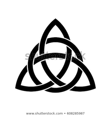 Celtic nudo oscuro anillos textura arte Foto stock © ankarb