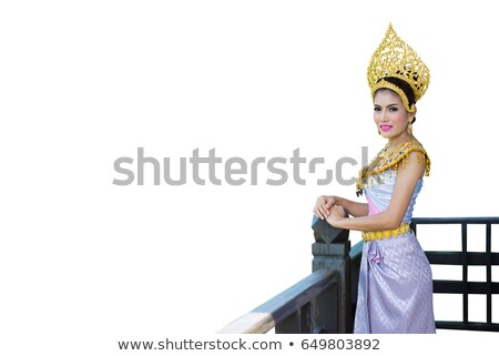 young woman in angel role Stock photo © Aikon