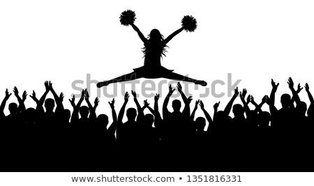 Jonge vrouw dansen mooie toevallig kleding trainers Stockfoto © dash
