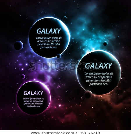 Space Background with 3 planets and space for text Stock photo © maxmitzu