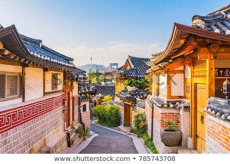 bukchon hanok village in seoul south korea Stock photo © travelphotography