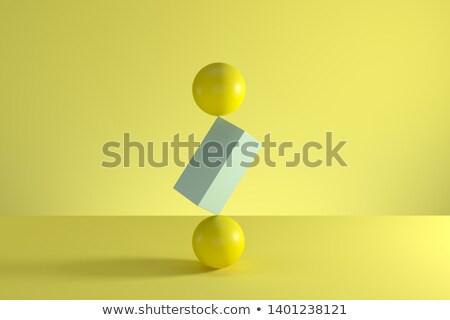 two spheres balance concept stock photo © 6kor3dos