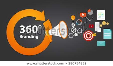 360 Degrees Marketing Concept Stock photo © ivelin