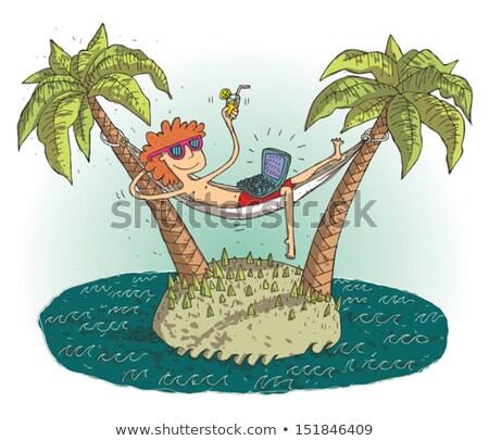 Shipwreck Cartoon Eps10 Stock photo © VOOK