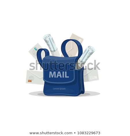 Vector icon postman bag stock photo © zzve