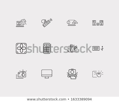 vector · icono · Polaroid - foto stock © zzve