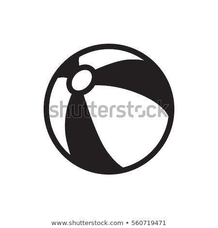 Vektor ikon strandlabda Stock fotó © zzve