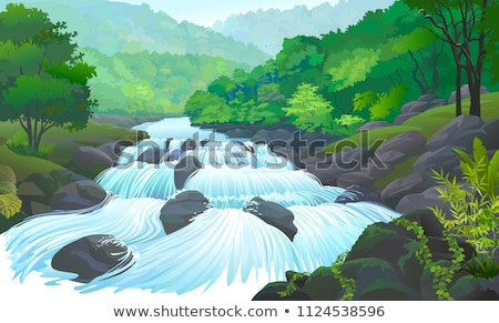 sprig forest and river  Stock photo © jonnysek