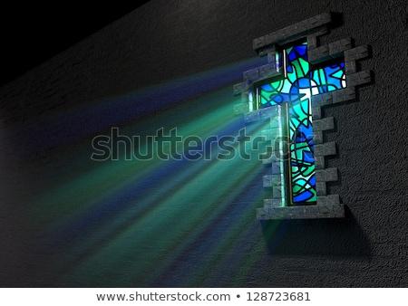 Vitrais janela jesus cristo atravessar Foto stock © Snapshot