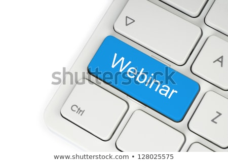 keyboard with webinar button stock photo © tashatuvango
