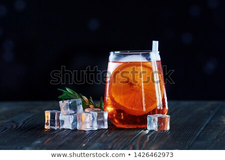 Glass of Water with Ice Cubes ready to drink  Stock photo © tab62