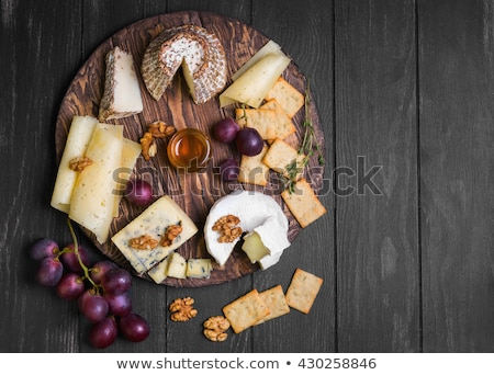 Peynir bisküvi taze kırmızı beyaz Stok fotoğraf © fotogal