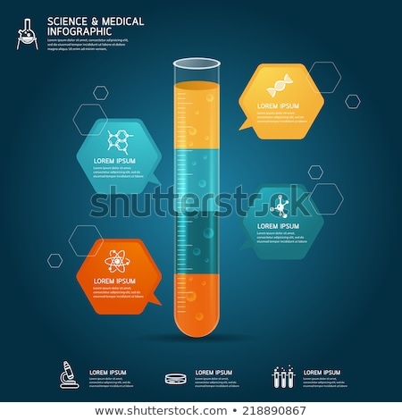 DNA helix in labotatory glass beaker Stock photo © Anterovium
