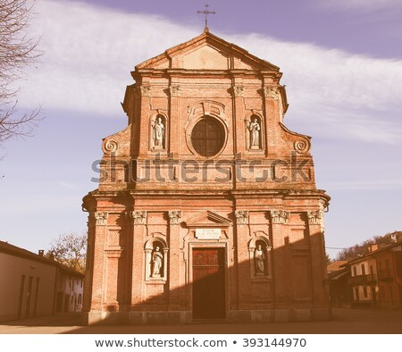 San Pietro Apostolo church, Brusasco Stock photo © claudiodivizia