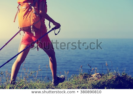женщины походов белый профиль стиль резиновые Сток-фото © FOKA