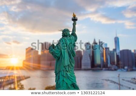 Сток-фото: подробность · статуя · свободы · Нью-Йорк · США · путешествия