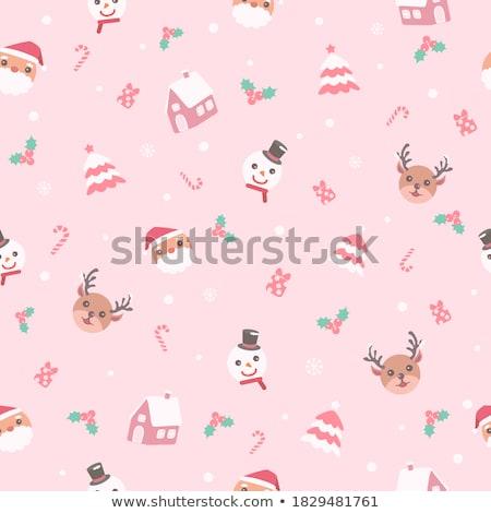 378827 stock photo seamless pastel christmas wallpaper