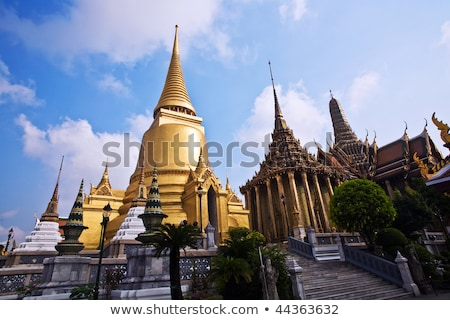 famous temple Phra Sri Ratana Chedi covered with foil gold  Stock photo © meinzahn