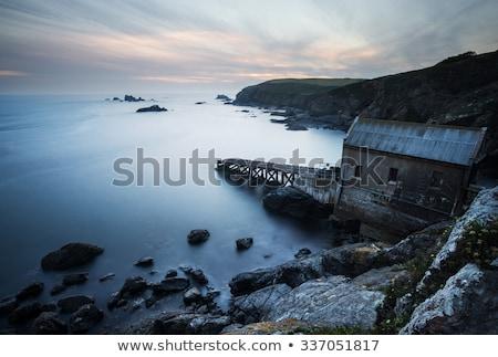 Gyík pont öreg állomás Anglia Cornwall Stock fotó © chris2766