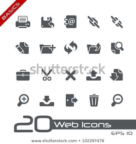 black basic web icons stock photo © sergeyt