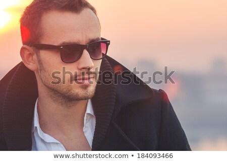 ao · ar · livre · moda · homem · saco · mão · quadro - foto stock © feedough