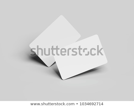 Business cards with rounded corners Stock photo © stevanovicigor