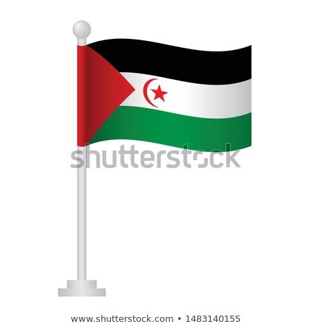 Stock fotó: Köztársaság · kicsi · zászló · térkép · arab · demokratikus