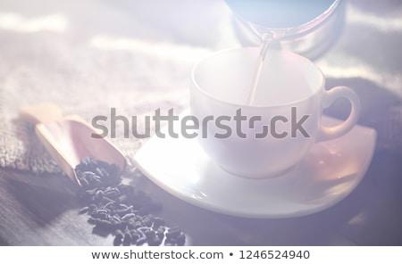 アジア ティーポット 2 カップ 孤立した 白 ストックフォト © compuinfoto