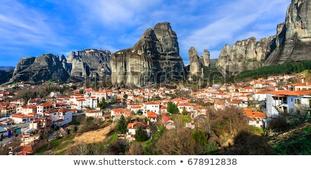 meteora rocks and monasteries in greece stock photo © mahout