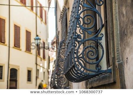 Stock photo: Decorative metal grating on window