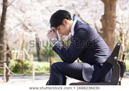 üzletember gond felnőtt férfi áll iroda Stock fotó © stevanovicigor