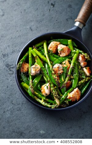 chicken and asparagus stir fry stock photo © arenacreative