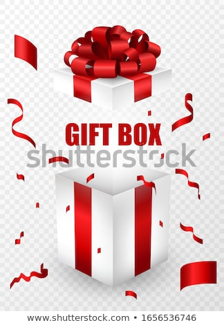 White box with red giftbox inside  Stock photo © dezign56