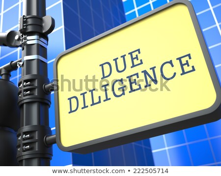 Due Diligence. Signpost on Blue Background. Stock photo © tashatuvango
