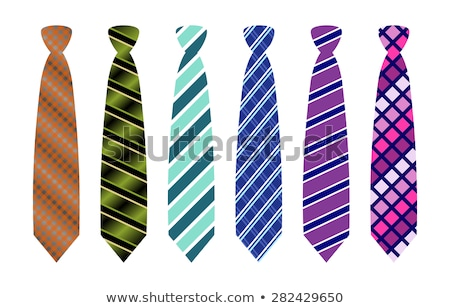Brown stripped neck tie  Stock photo © dezign56