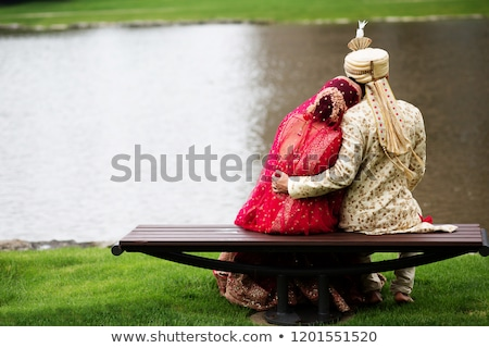 Happy moment of indian groom Stock photo © ziprashantzi
