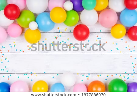ballonnen · frame · decoratie · klaar · posters · kaarten - stockfoto © barbaliss