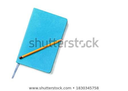 Bleu cuir organisateur crayon journal noir Photo stock © dariazu